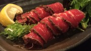 Beef sashimi, a pure treat when pulled off right!