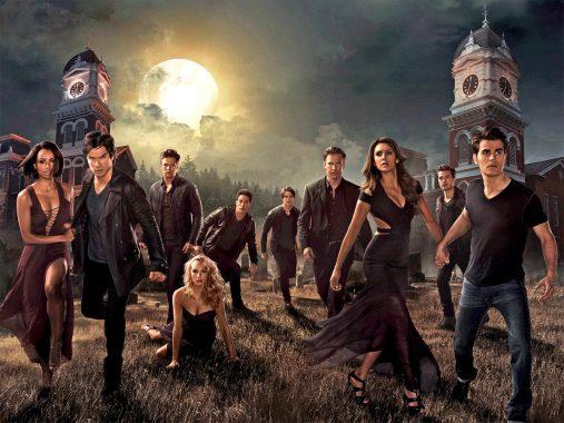 "Count 7:3 male to female leads in the surprisingly ""bromantic"" hit series ""Vampire Diaries."" For the picture the female leads are dressed in ball gowns but the men are dressed this fashionably in every episode."
