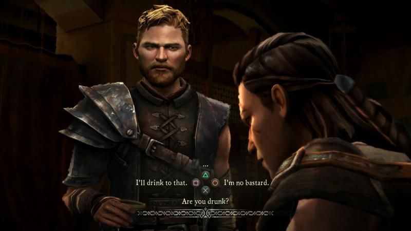 Asher Forrester is talking to his friend Beskha. The player decides what he will say next, determining the direction and outcome of the story.