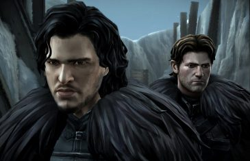 "Former squire to Lord Forrester meets John Snow at Castle Black, in ""Game of Thrones: A Telltale Video Game Series."""