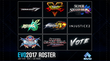 The game lineup for the EVO 2017 fighting game tournament has been announced, an eight-game mix of t