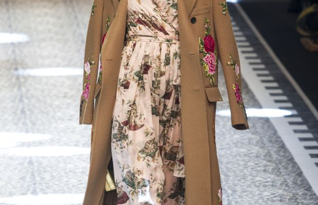 A look from the Dolce & Gabbana Fall 2017 collection. Photo: Imaxtree