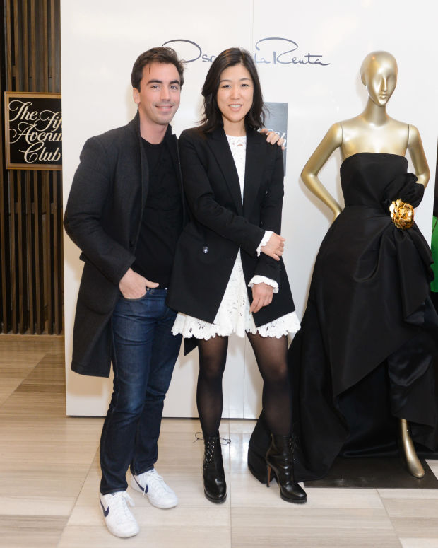 Fernando Garcia and Laura Kim at their Saks Fifth Avenue appearance. Photo: BFA/Courtesy of Saks