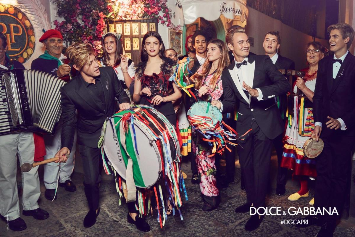 Dolce & Gabbana's influencer-heavy Spring 2017 campaign. Photo: Franco Pagetti/Dolce & Gabbana