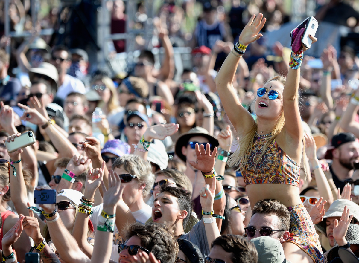 Music fans at Coachella. Photo: Frazer Harrison/Getty Images