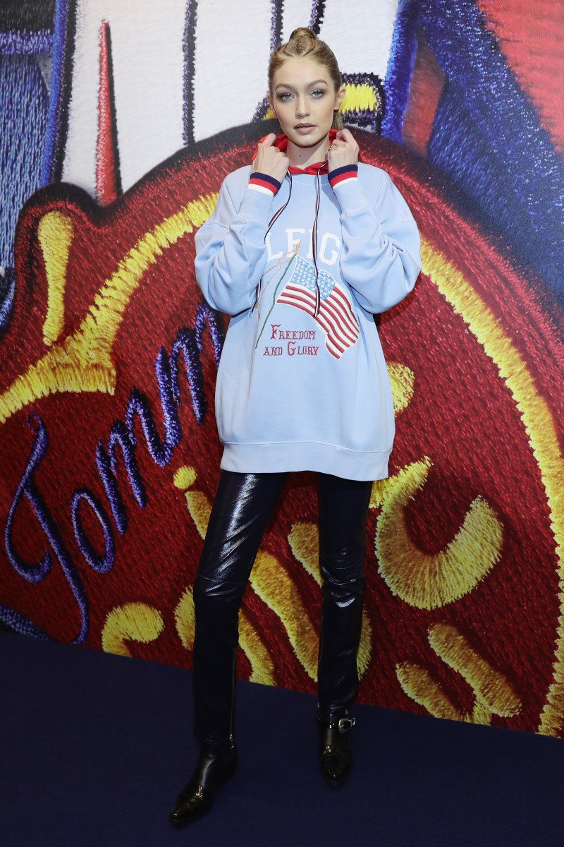 Gigi Hadid promoting her Tommy Hilfiger collaboration. Photo: Vittorio Zunino Celotto/Getty Image
