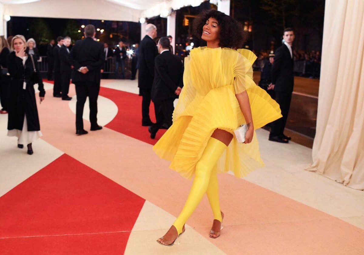 Solange Knowles in David LaPort on the 2016 Met Gala: Manus X Machina: Fashion in an Age of Technology red carpet. Photo: @voguemagazine/Instagram