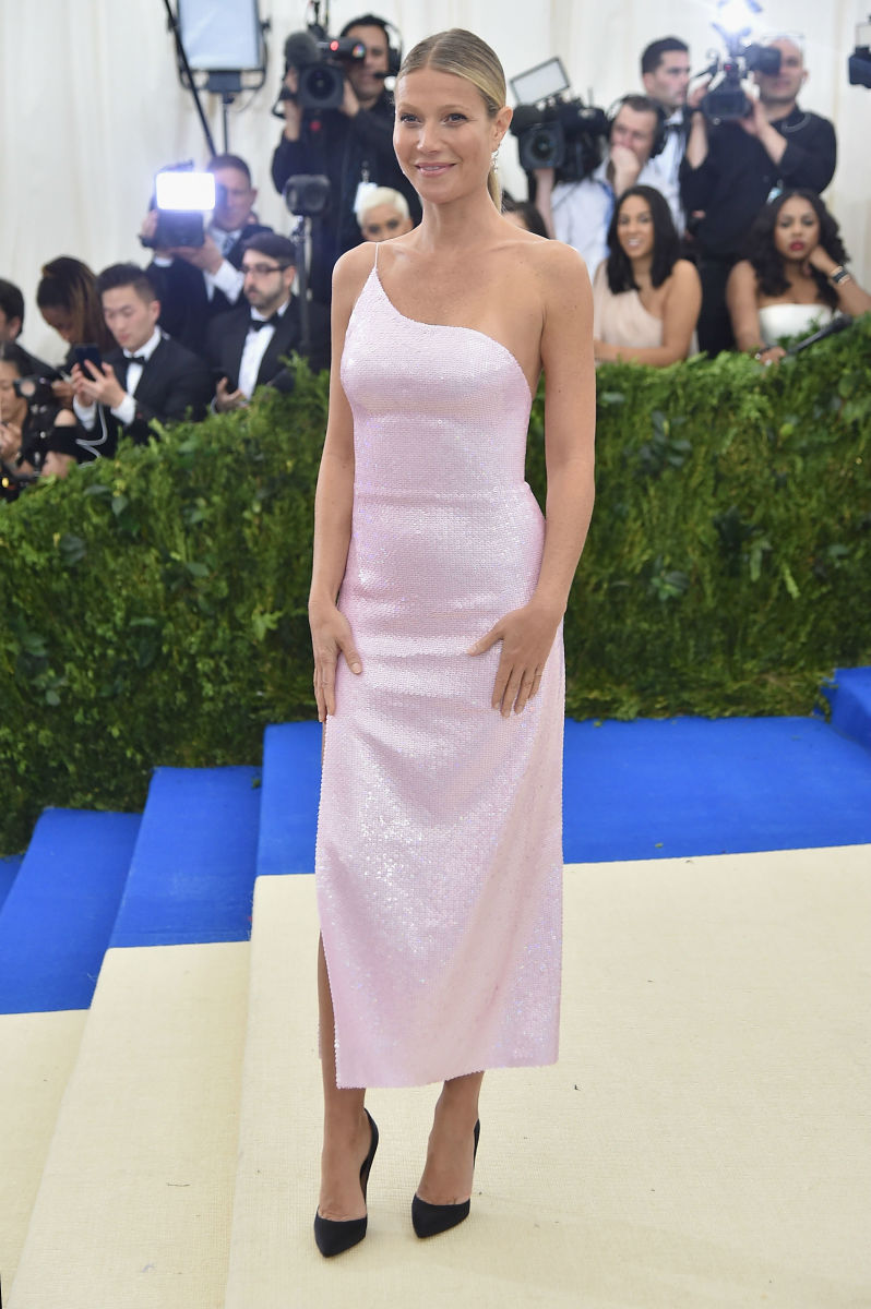 Gwyneth Paltrow in Calvin Klein at the 2017 Met Gala. Photo:Dia Dipasupil/Getty Images