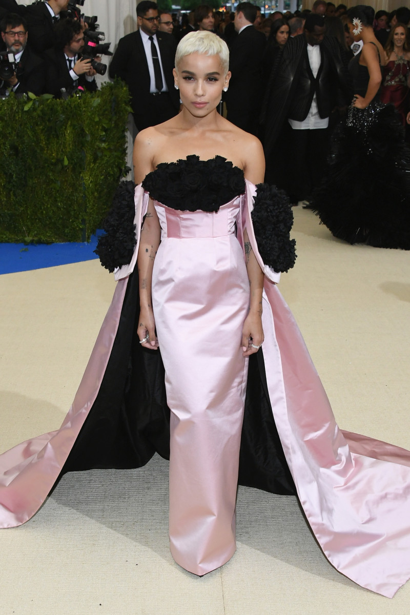 Zoe Kravitz in Oscar de la Renta at the 2017 Met Gala. Photo: Dia Dipasupil/Getty Images For Entertainment Weekly