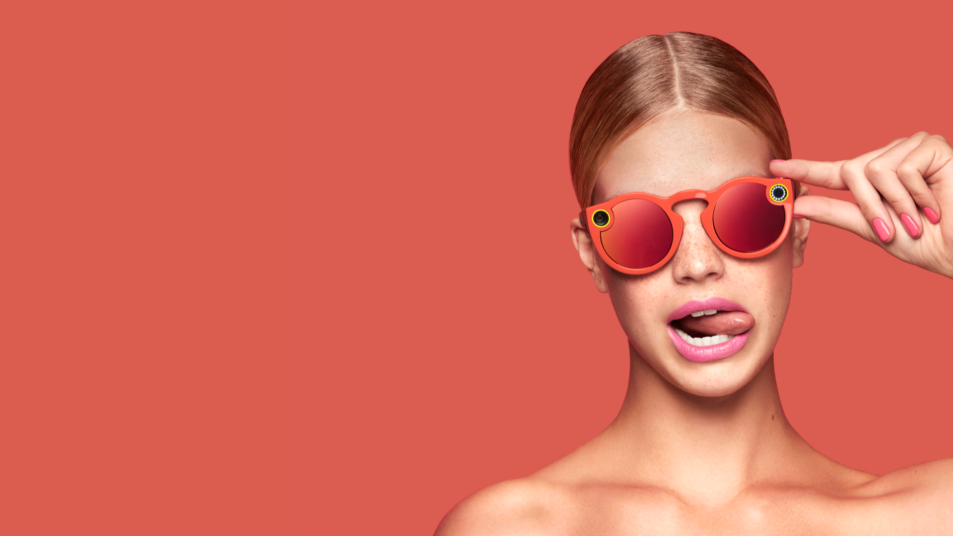 Snapchat Spectacles Now Available To Buy Outside Of The U.S. Coral on red
