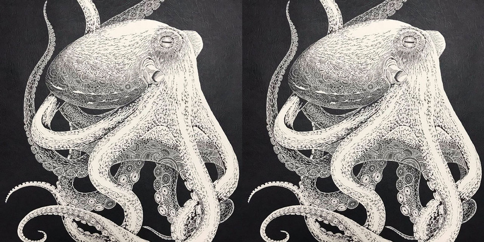 Masayo Fukuda's Intricate Octopus Kirie Cut-Out