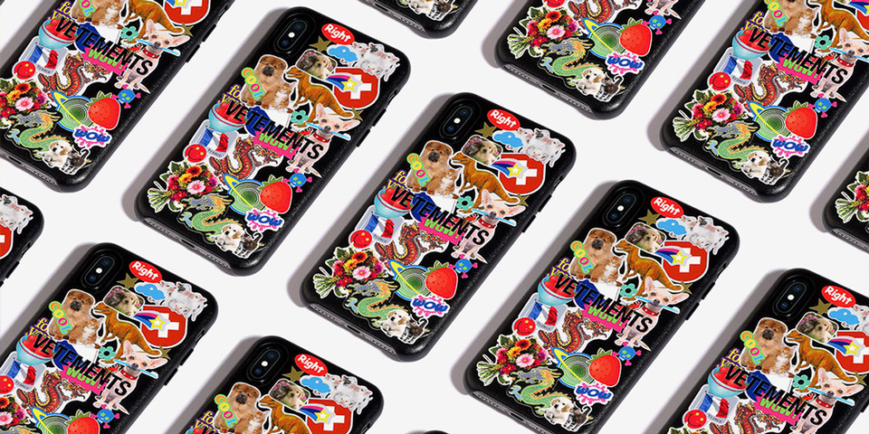 Vetements x CASETiFY Sticker Apple iPhone Case