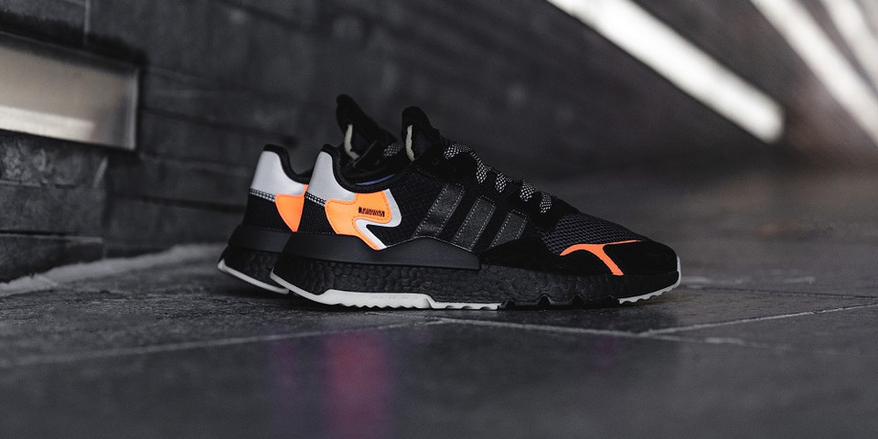 adidas Nite Jogger Core Black/Orange 2019 Info